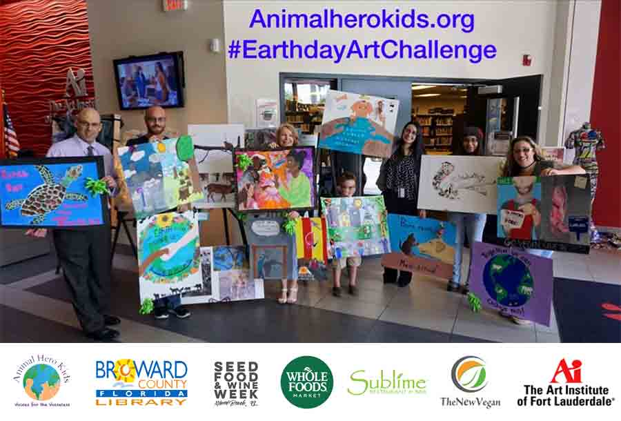 Animal Hero Kids Earth Day Art Challenge Takes Over the Gallery of the Art Institute of Fort Lauderdale