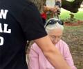 Jane Goodall receives Animal Hero Kids book from chimp advocate