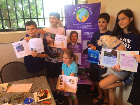 "Reading goes to the dogs at ""Animal Hero Kids, Voices for the Voiceless"" Book Event"
