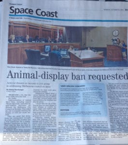 Animal Display Ban