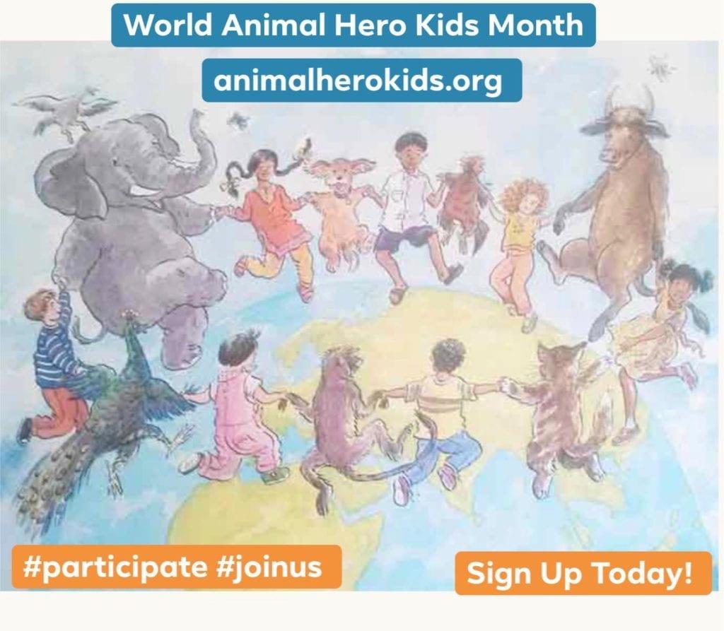 Animal Hero Kids Month Graphic